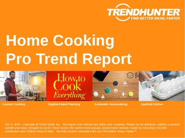 Home Cooking Trend Report and Home Cooking Market Research