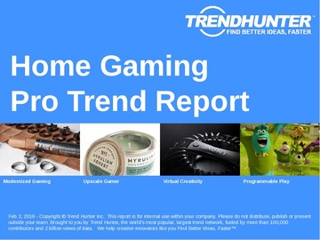 Home Gaming Trend Report and Home Gaming Market Research
