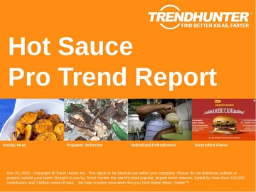 Hot Sauce Trend Report and Hot Sauce Market Research
