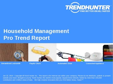 Household Management Trend Report and Household Management Market Research