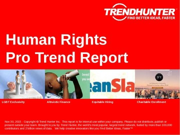 Human Rights Trend Report and Human Rights Market Research