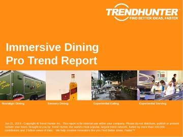 Immersive Dining Trend Report and Immersive Dining Market Research