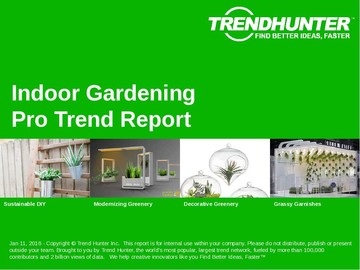 Indoor Gardening Trend Report and Indoor Gardening Market Research