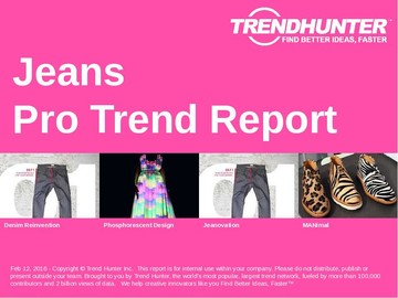 Jeans Trend Report and Jeans Market Research