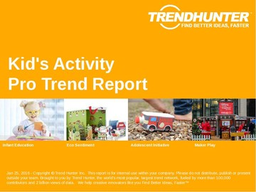 Kid's Activity Trend Report and Kid's Activity Market Research