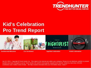 Kid's Celebration Trend Report and Kid's Celebration Market Research