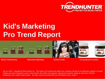 Kid's Marketing Trend Report and Kid's Marketing Market Research