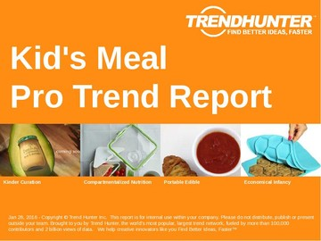 Kid's Meal Trend Report and Kid's Meal Market Research