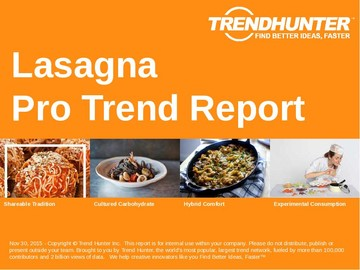 Lasagna Trend Report and Lasagna Market Research