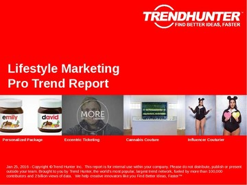 Lifestyle Marketing Trend Report and Lifestyle Marketing Market Research