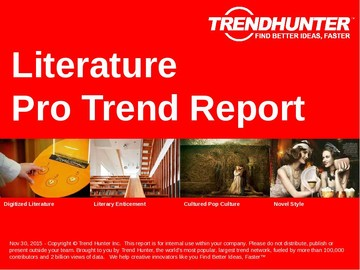 Literature Trend Report and Literature Market Research