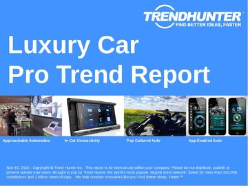 Luxury Car Trend Report and Luxury Car Market Research
