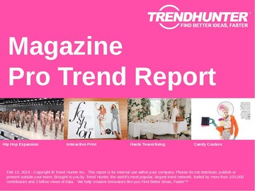 Magazine Trend Report and Magazine Market Research