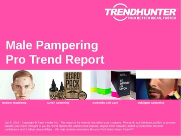 Male Pampering Trend Report and Male Pampering Market Research