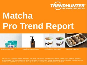 Matcha Trend Report and Matcha Market Research