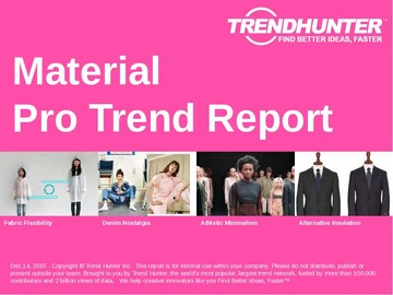 Material Trend Report and Material Market Research