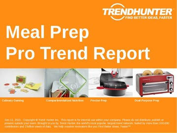Meal Prep Trend Report and Meal Prep Market Research