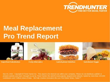 Meal Replacement Trend Report and Meal Replacement Market Research