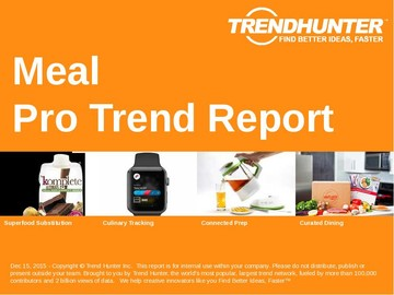Meal Trend Report and Meal Market Research