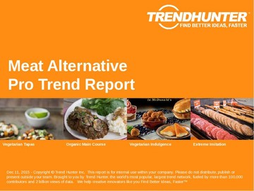 Meat Alternative Trend Report and Meat Alternative Market Research