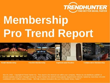 Membership Trend Report and Membership Market Research