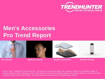 Men's Accessories Trend Report and Men's Accessories Market Research
