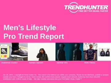 Men's Lifestyle Trend Report and Men's Lifestyle Market Research