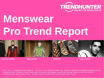 Menswear Trend Report and Menswear Market Research