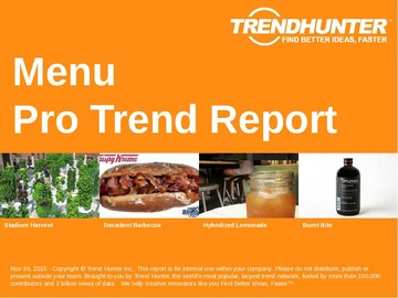 Menu Trend Report and Menu Market Research