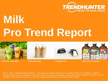 Milk Trend Report and Milk Market Research