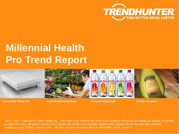 Millennial Health Trend Report and Millennial Health Market Research