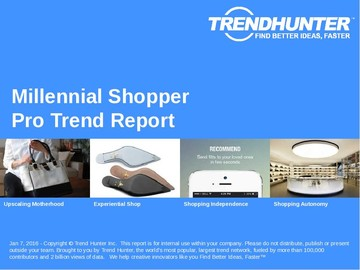 Millennial Shopper Trend Report and Millennial Shopper Market Research
