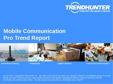 Mobile Communication Trend Report and Mobile Communication Market Research