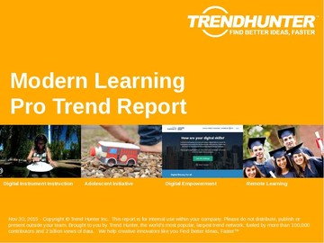 Modern Learning Trend Report and Modern Learning Market Research