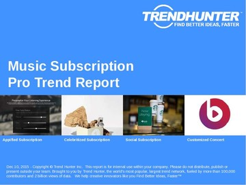 Music Subscription Trend Report and Music Subscription Market Research