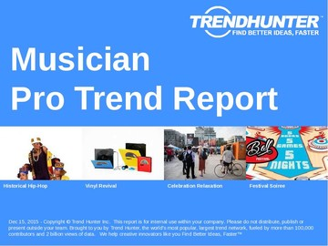 Musician Trend Report and Musician Market Research