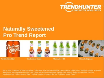 Naturally Sweetened Trend Report and Naturally Sweetened Market Research
