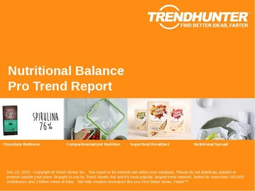 Nutritional Balance Trend Report and Nutritional Balance Market Research