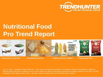 Nutritional Food Trend Report and Nutritional Food Market Research
