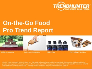On-the-Go Food Trend Report and On-the-Go Food Market Research