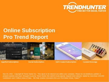 Online Subscription Trend Report and Online Subscription Market Research