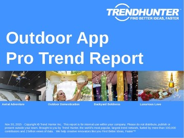 Outdoor App Trend Report and Outdoor App Market Research