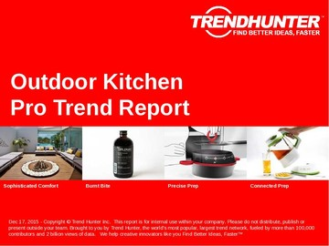 Outdoor Kitchen Trend Report and Outdoor Kitchen Market Research