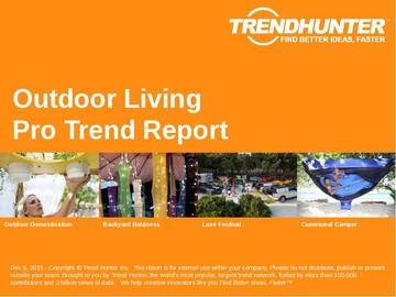 Outdoor Living Trend Report and Outdoor Living Market Research