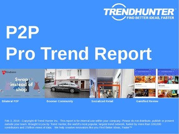 P2P Trend Report and P2P Market Research