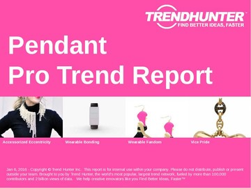 Pendant Trend Report and Pendant Market Research