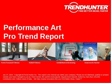 Performance Art Trend Report and Performance Art Market Research