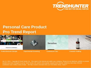 Personal Care Product Trend Report and Personal Care Product Market Research