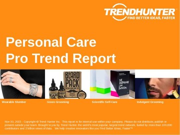 Personal Care Trend Report and Personal Care Market Research