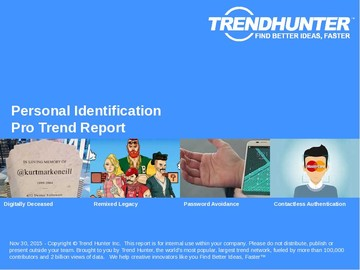 Personal Identification Trend Report and Personal Identification Market Research